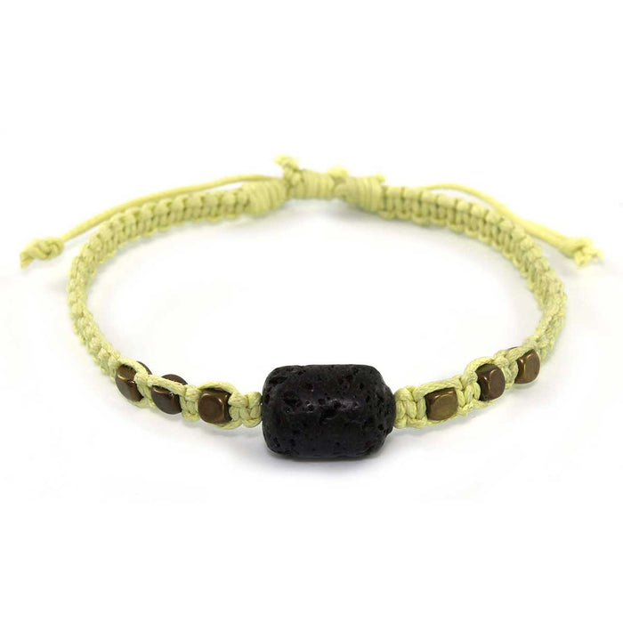 6 x Essential Oil Jewelry Bracelets with 1.5 ml vial of Lemon Essential Oil.