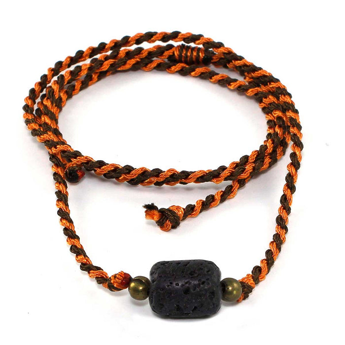 6 x Essential Oil Jewelry Necklaces /Bracelets with  1.5 ml vial of Orange Essential Oil.