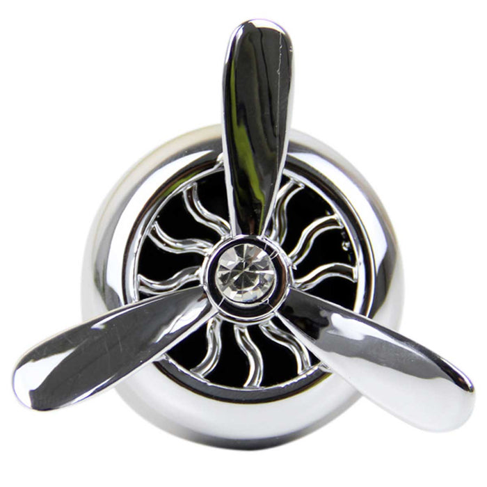 Wholesale Metallic Fan Style Car Vent Oil Diffusers Displayer of 12