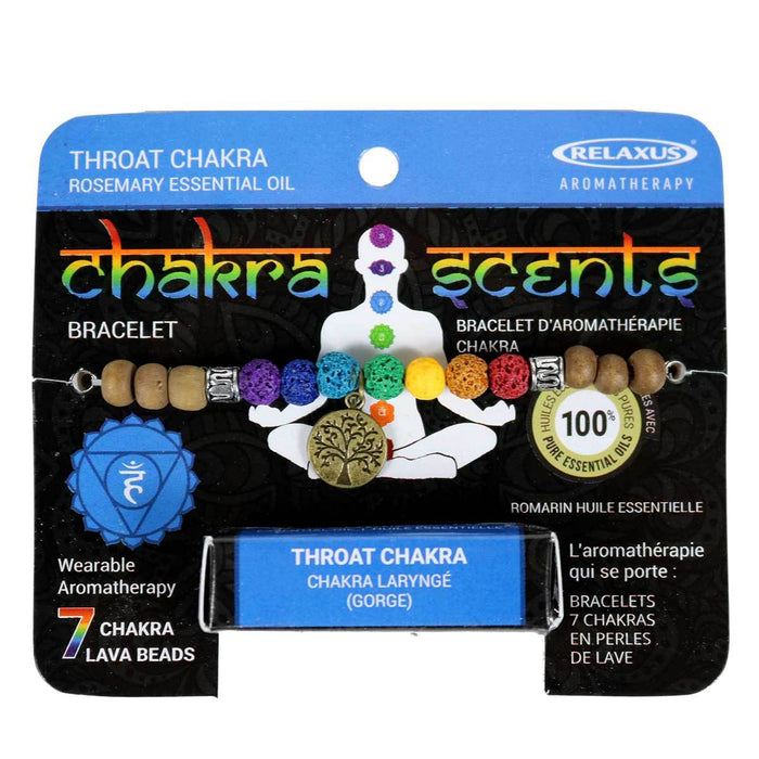 Wholesale Throat Chakra Scents Aroma Bracelet