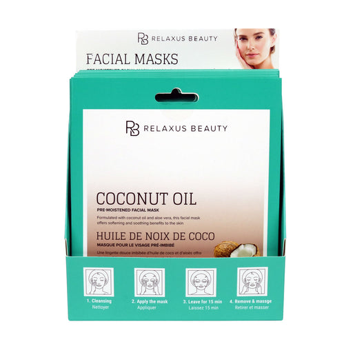 Wholesale Coconut Face Mask - Displayer of 12