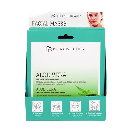 Wholesale Aloe Vera Face Mask - Displayer of 12