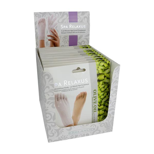 Wholesale Olive Oil Foot Mask - Displayer of 12