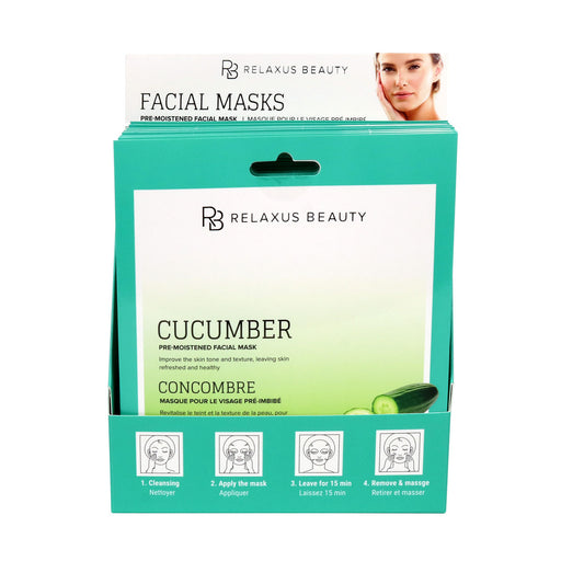 Wholesale Cucumber Face Mask - Displayer of 12