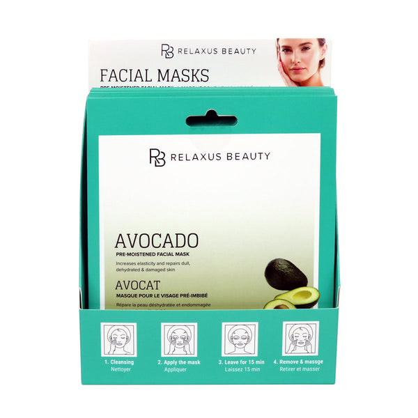 Wholesale Avocado & Vitamin E Face Mask Displayer of 12