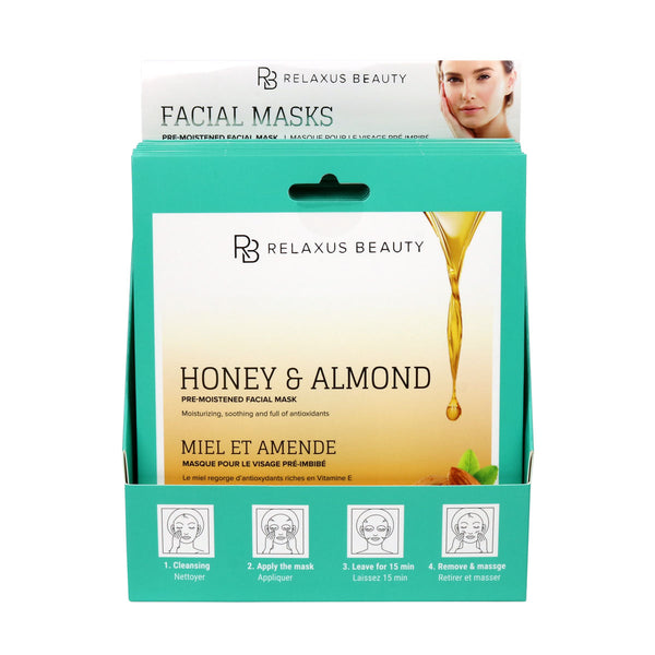 Wholesale Honey, Almond & Vitamin E Face Mask Displayer of 12