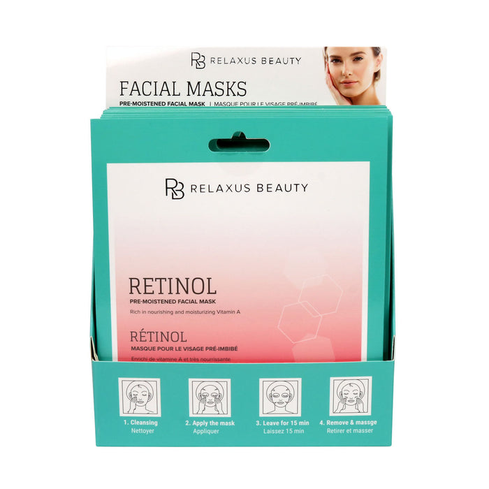 Wholesale Retinol Face Mask - Displayer of 12