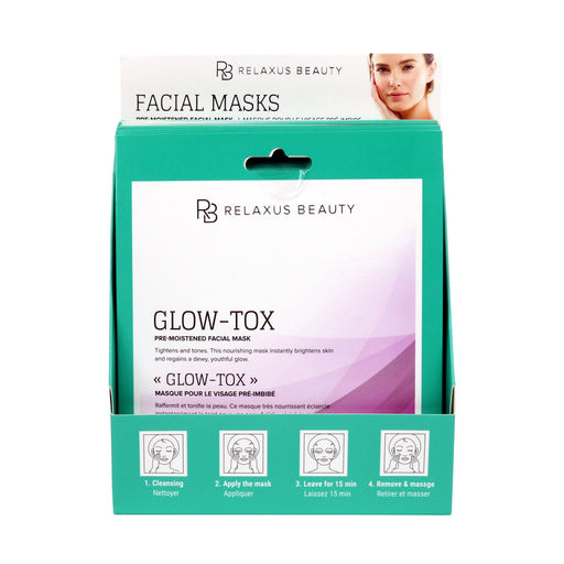 Wholesale Glow Tox Face Mask Displayer of 12