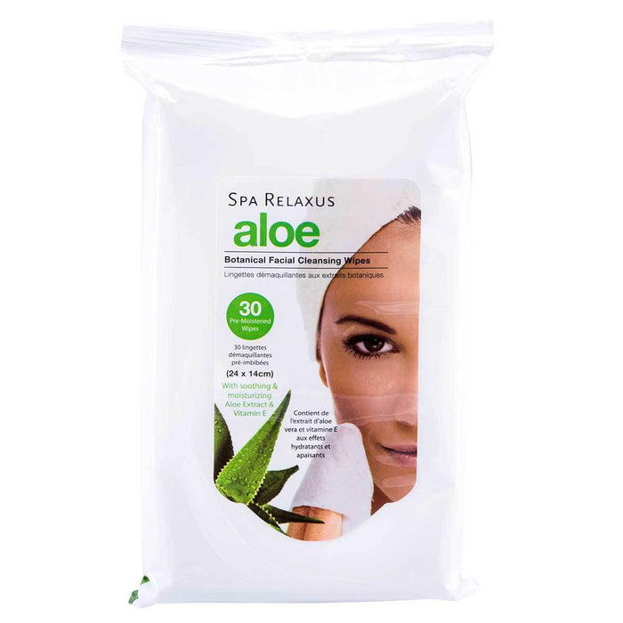 Wholesale Aloe Botanical Cleansing Wipes Displayer of 8