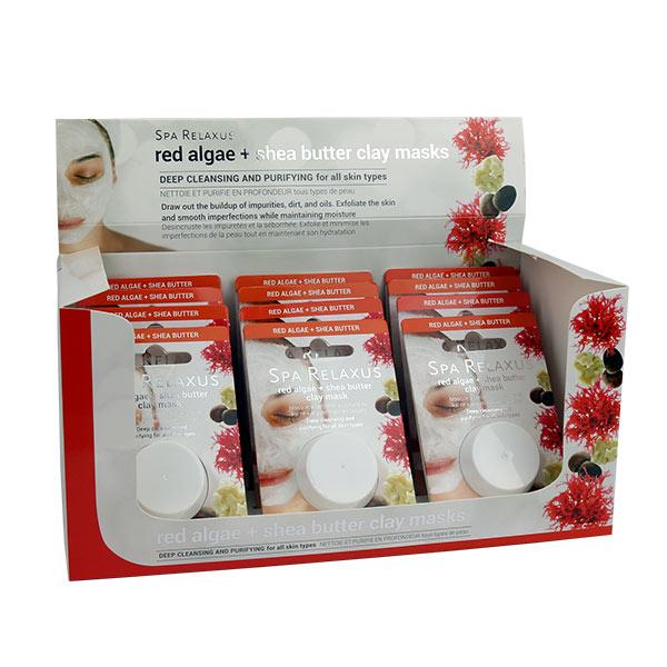 Wholesale Red Algae & Shea Butter Clay Mask Displayer of 12