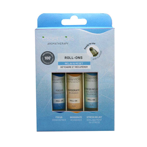 Wholesale Relax & Reset Essential Oils Roll-On Gift Set (3 x 10 ml) Displayer of 6