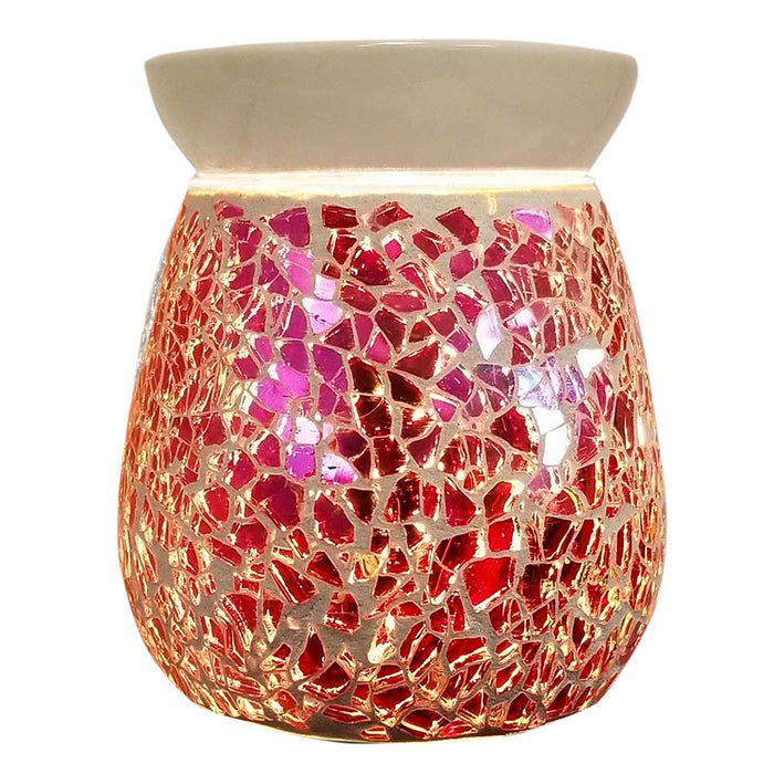 Wholesale Aroma Crackle Glass Electric Oil & Wax Warmer