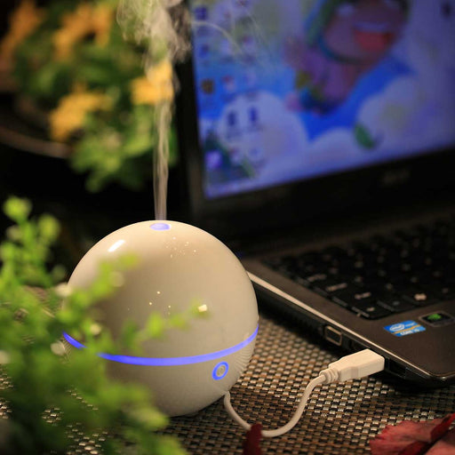 Wholesale Mini Desktop II Ultrasonic Essential Oil Diffuser With USB Cable