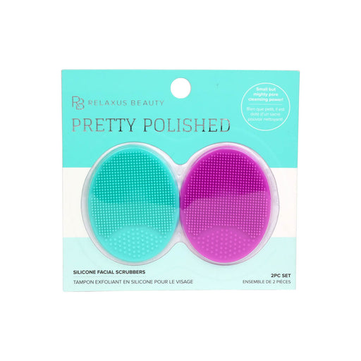 Pretty Polished Silicone Facial Scrubber turq/fuchsia