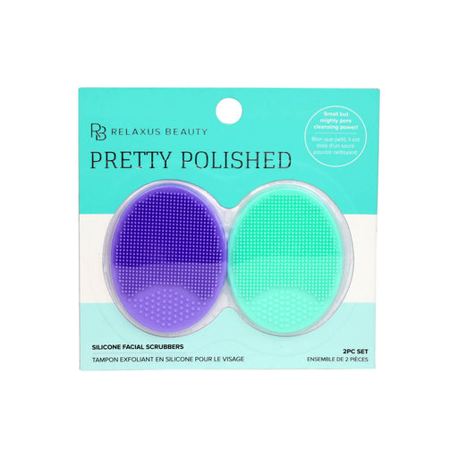 Pretty Polished Silicone Facial Scrubber lavender/mint