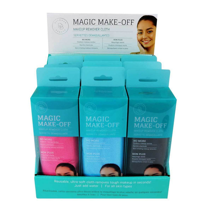 Wholesale Magic Makeup Remover Cloths  Displayer of 12