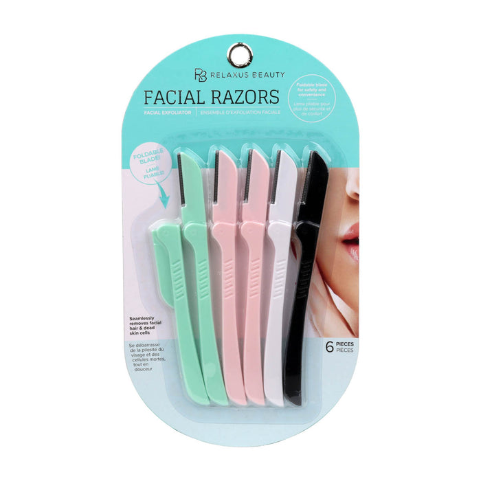 Beauty Razors with Folding Blade packaging