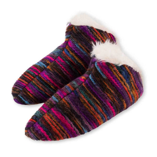 Wholesale Sherpa Hand Knit Slippers