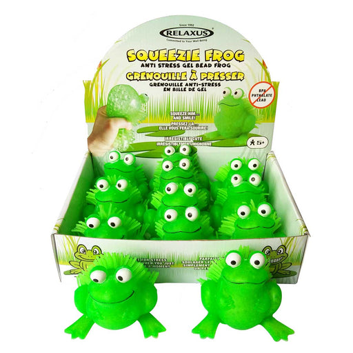 Wholesale Gel Bead Frog Squeeze Stress Toy