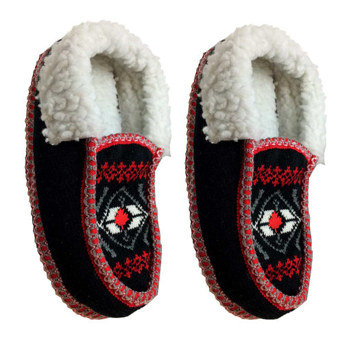 Wholesale Maple Leaf Moccasin Slippers
