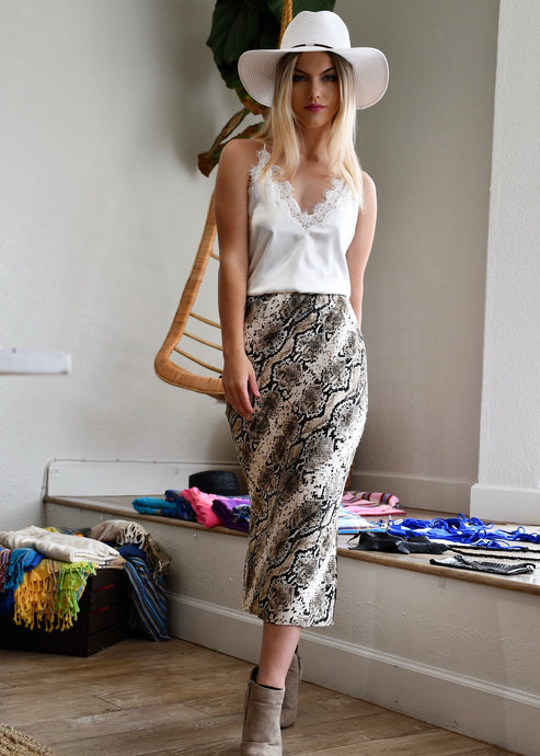 The Jessica Skirt in Snakeskin