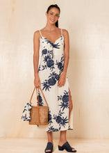 Load image into Gallery viewer, Pineapple Claire Midi Dress - Navy