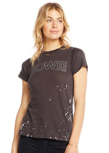 David Bowie Tee- Silver & Gray