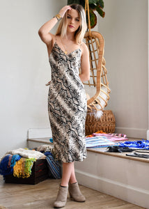 Snakeskin Silk Dress