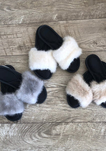 Mink Slip-on Slippers