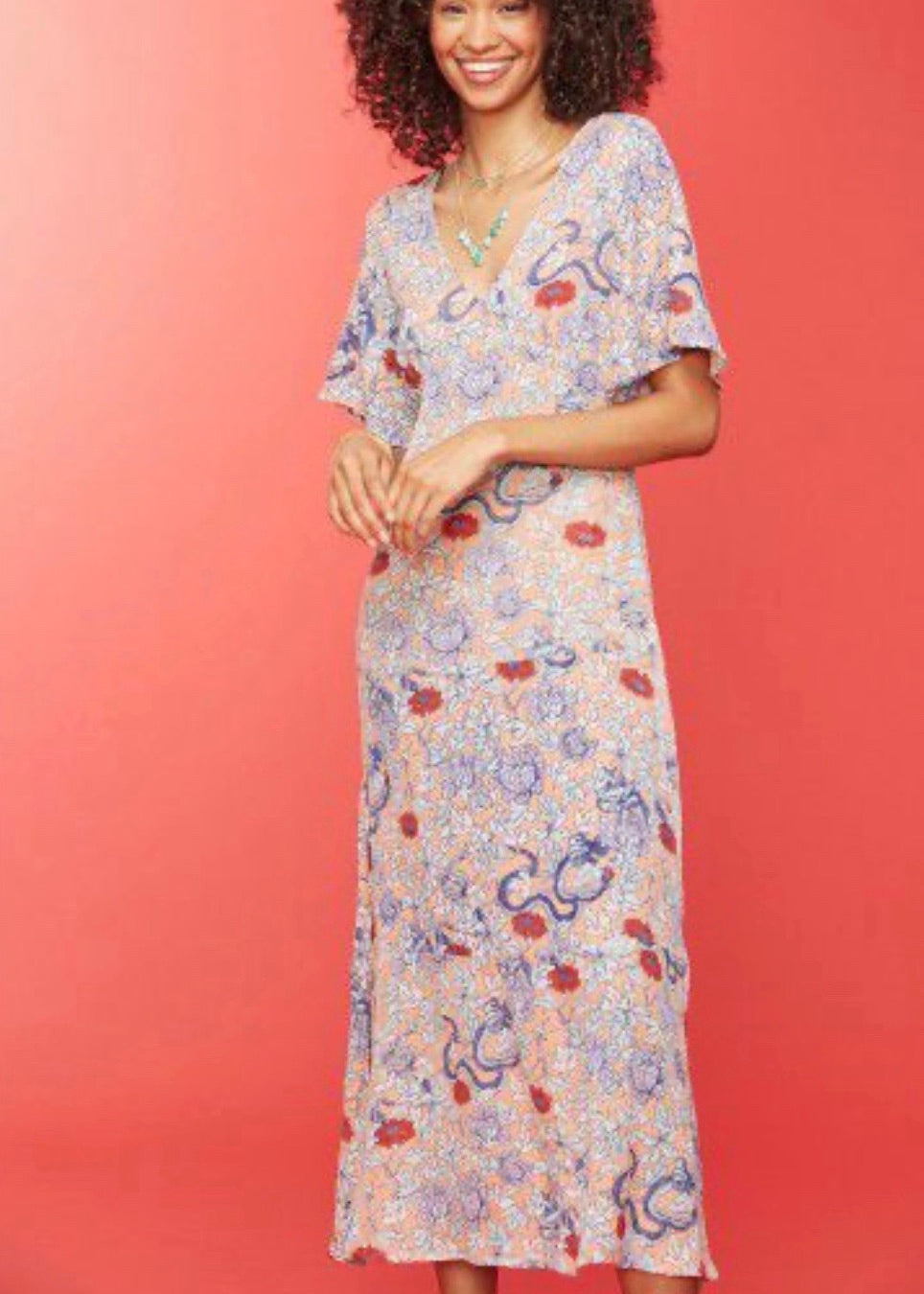 Druk Floral Issa Dress