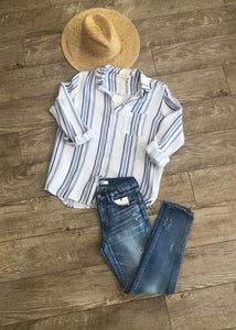 Button Down Stripe Shirt