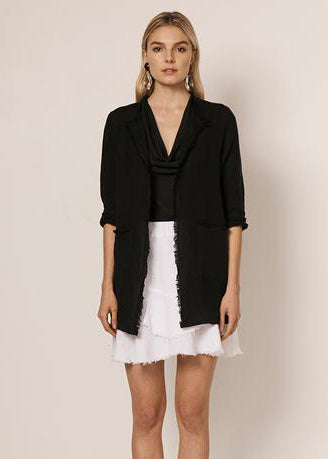 Raw Edge Duster Black