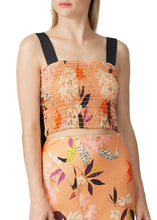 Load image into Gallery viewer, Smocked Crop Tank - Camelia