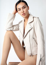 Load image into Gallery viewer, KAS Biker Jacket - Blanc