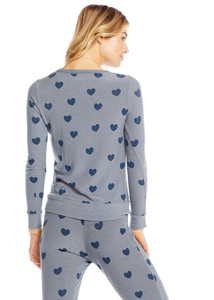 Blue Hearts Pullover