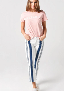 Cropped Mini Boot Baja Stripe Pant
