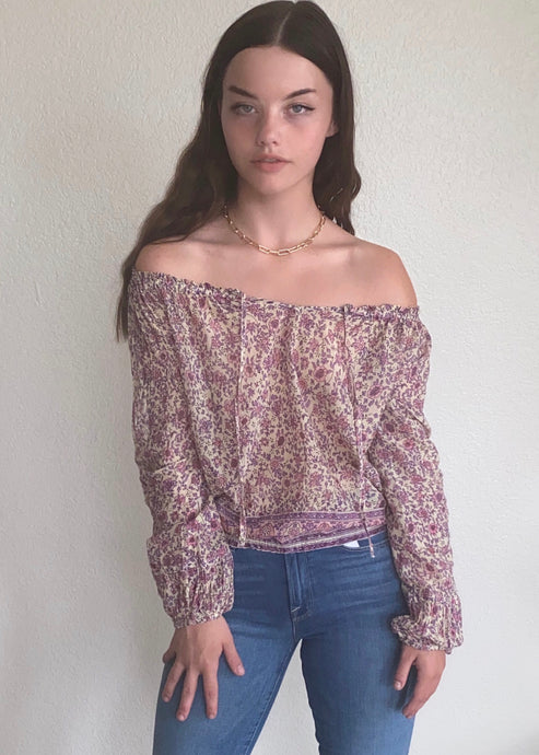 Bliss Printed Off The Shoulder Blouse