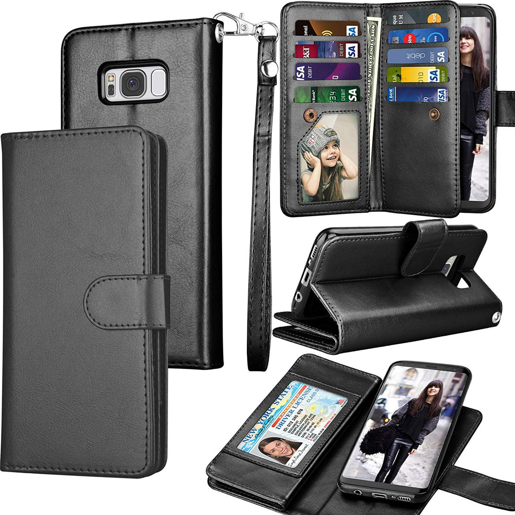 Tekcoo | S8 Plus Wallet Case - Black