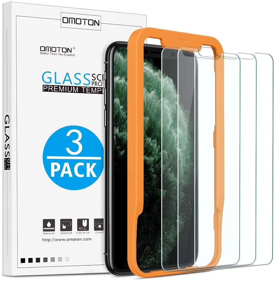 OMOTON | Apple iPhone Xs Max Screen Protector [3 Pack]
