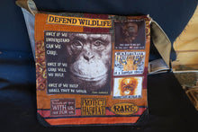 Load image into Gallery viewer, Chimp Bag. Handmade from recycled materials.