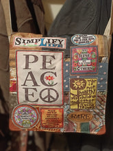 Load image into Gallery viewer, Peace Bag. Handmade from recycled materials.