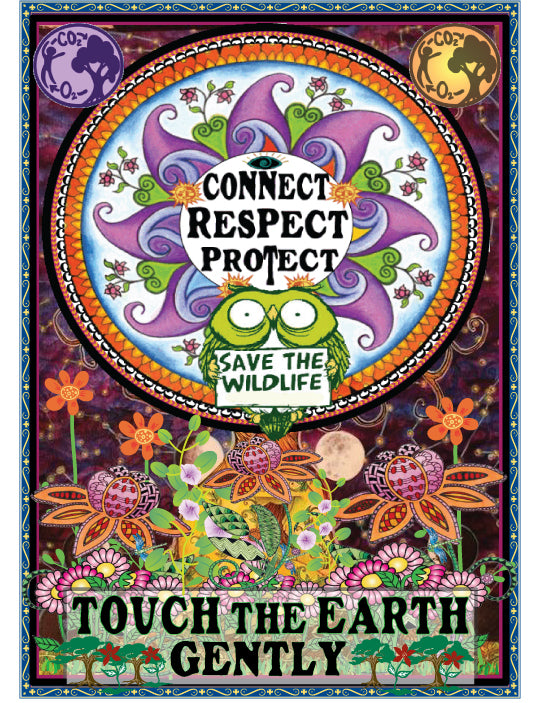 Connect Touch Earth Rectangle Patch