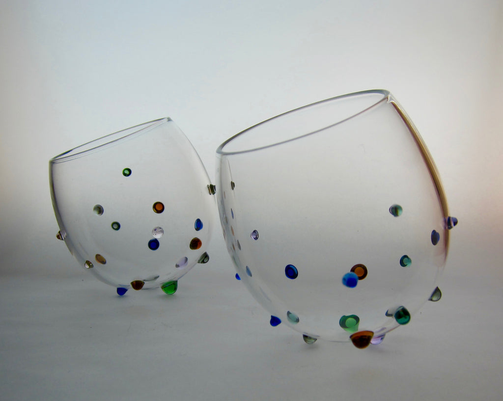 Hand blown glass- Sputnik-Color.