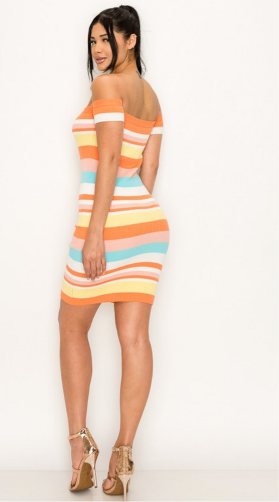 """Good Vibes"" Striped Dress"