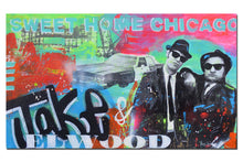 Load image into Gallery viewer, Blues Brothers painting. Original Chicago street art by Gino Savarino. Modern pop art for sale