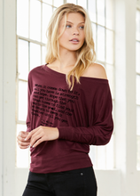 Hope - Flowy Long Sleeve Off the Shoulder Tee