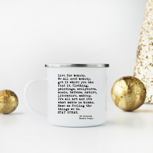 Stay Human - Scott Hildreth - Enamel Camp Mug
