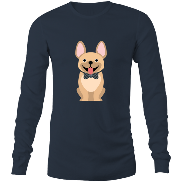 Tan Fancy Frenchie - Mens Long Sleeve Tee
