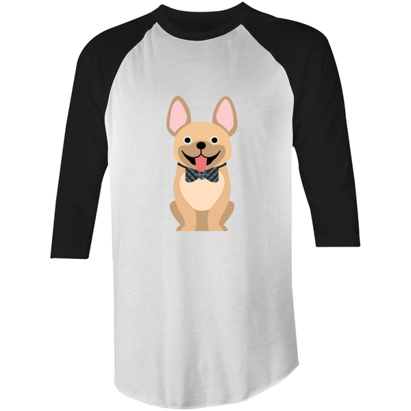 Tan Fancy Frenchie- 3/4 Sleeve Tee