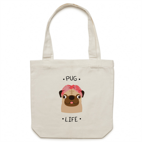 Pug life - Canvas Tote Bag